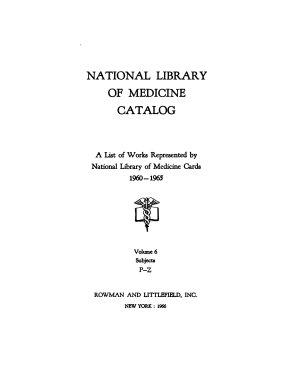 National Library of Medicine Catalog