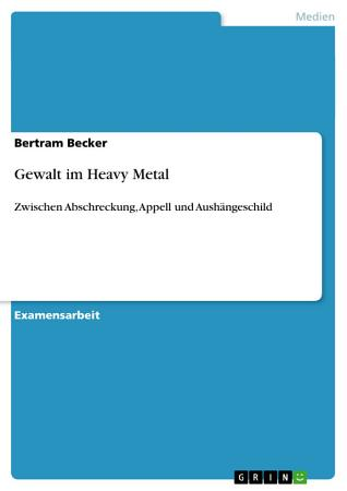 Gewalt Im Heavy Metal PDF