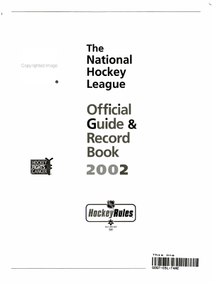 National Hockey League Official Guide and Record Book 2002 PDF