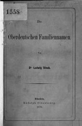 Die oberdeutschen Familiennamen