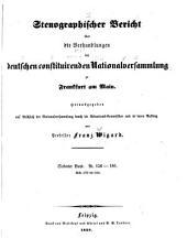 Stenographischer Bericht über die Verhandlungen der Deutschen constituirenden Nationalversammlung zu Frankfurt am Main: Band 7