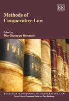 Methods of Comparative Law PDF