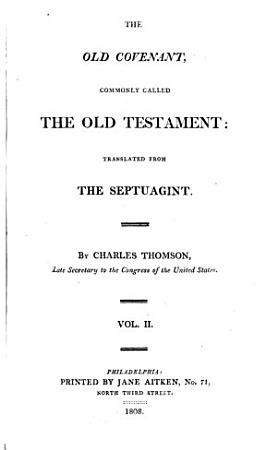 The Holy Bible  Old Covenant PDF