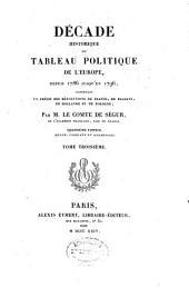 """""""Décade historique"""", ou Tableau politique de l'Europe depuis 1786 jusqu'en 1796, contenant un précis des révolutions de France, de Brabant, de Hollande et de Pologne: Volume3"""