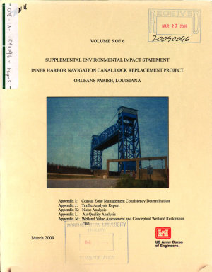 Inner Harbor Navigation Canal Lock Replacement Project  Orleans Parish