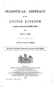 Statistical Abstract for the United Kingdom: Issues 1872-1886
