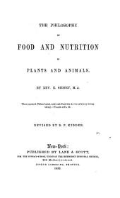 The Philosophy of Food and Nutrition in Plants and Animals