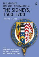 The Ashgate Research Companion to The Sidneys  1500   1700 PDF
