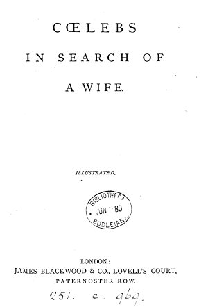 C  lebs in search of a wife  by H  More   PDF