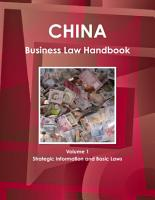 China Business Law Handbook Volume 1 Strategic Information and Basic Laws PDF
