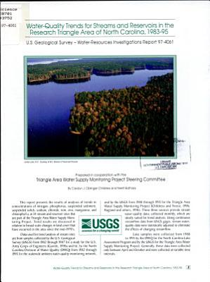 Water quality Trends for Streams and Reservoirs in the Research Triangle Area of North Carolina  1983 95 PDF