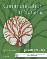 Communication in Nursing PDF