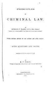 Principles of the Criminal Law