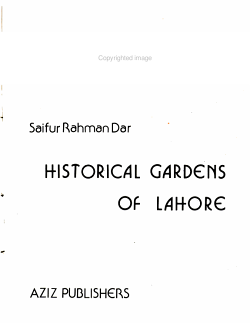 Historical Gardens of Lahore PDF