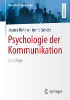 Psychologie der Kommunikation PDF