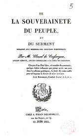 De la souveraineté du peuple et du serment demandé aux membres des collèges électoraux