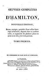 Oeuvres complètes d'Hamilton: Volume1