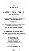 The Works of James the First  King of Scotland PDF