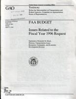 FAA Budget PDF