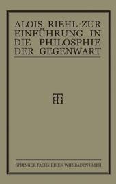 Zur Einführung in die Philosophie der Gegenwart: Ausgabe 6
