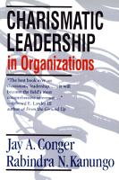 Charismatic Leadership in Organizations PDF