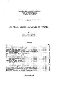 The Pearl oyster Resources of Panama