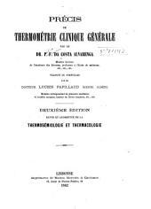 Précis de thermométrie clinique générale