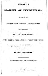 Hazard's Register of Pennsylvania: Volume 14