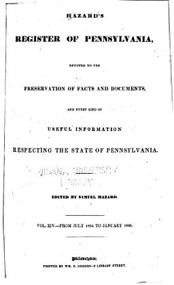 Hazard's Register of Pennsylvania
