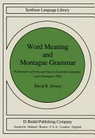 Word Meaning and Montague Grammar PDF