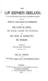 The Law Reports (Ireland): Volume 4