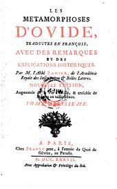 Les metamorphoses, trad. en francois avec des remarques et des explications historiques par Antoine Banier. Nouv. ed. enrichie de figures. - Paris, Prault pere 1737