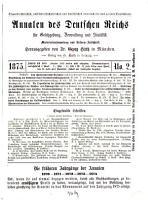 Annalen des Deutschen Reiches f  r Gesetzgebung  Verwaltung und Volkswirtschaft0 PDF