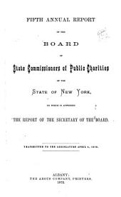 Annual Report of the State Board of Charities of the State of New York: (1872-1875), Volumes 5-8