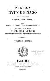 Publii Ovidii Nasonis Opera ex recensione Heinsio-Burmanniana; cum notis Jos. Aug. Amar