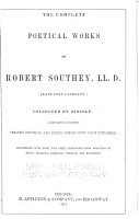 The Complete Poetical Works of Robert Southey PDF