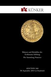 Künker Auktion 268 - Münzen und Medaillen des Erzbistums Salzburg | Die Sammlung Numitor