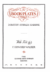 The book-plates of Dorothy Sturgis Harding