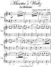 Musetta's Waltz La Boheme Elementary Piano Sheet Music