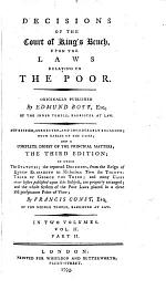 Decisions of the Court of king's bench, upon the laws relating to the poor, revised, corrected and enlarged