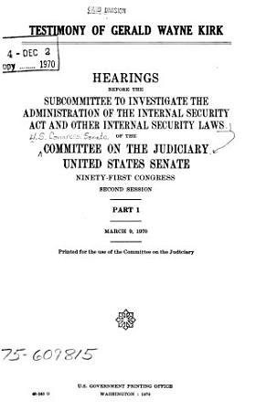 Testimony of Gerald Wayne Kirk PDF