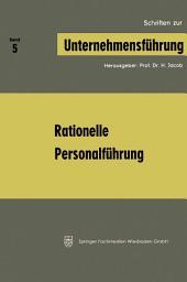 Rationelle Personalführung