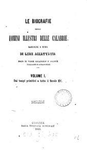 Le biografie degli uomini illustri delle Calabrie, raccolte a cura di L. Accattatis