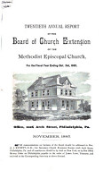 Annual Report of the Board of Church Extension of the Methodist Episcopal Church for the Year     PDF