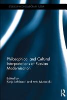 Philosophical and Cultural Interpretations of Russian Modernisation PDF