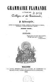 Grammaire flamande à l'usage des collèges et des pensionnats: Volume 2