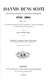 Opera omnia: Volumes 21-22