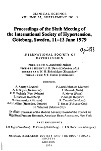 Proceedings of the Meeting of the International Society of Hypertension PDF