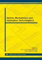 Vehicle  Mechatronics and Information Technologies II PDF