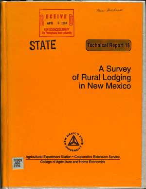 A Survey of Rural Lodging in New Mexico PDF